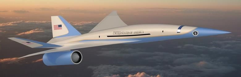 concept rendering of design for supersonic Air Force One